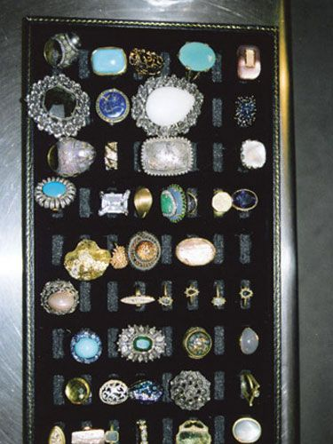 chunky rings with gemstones