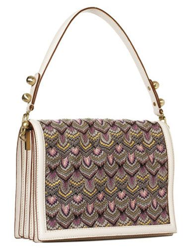 purple patterned purse