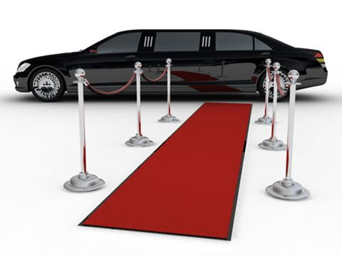 red carpet and limo