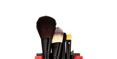 set of make up brushes