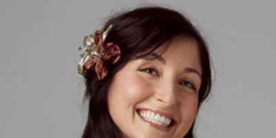 woman with long dark brown hair