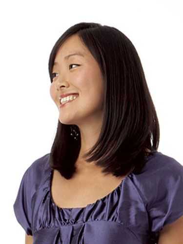 Woman With Straight Medium Length Black Hair