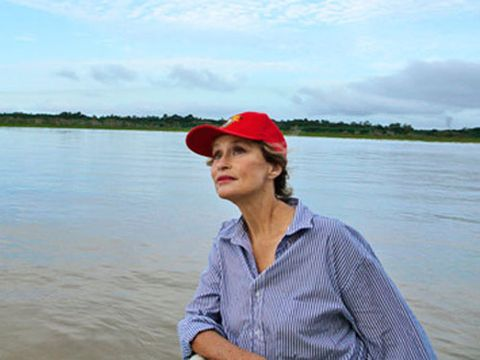 lauren hutton travels to brazil for eco friendly beauty