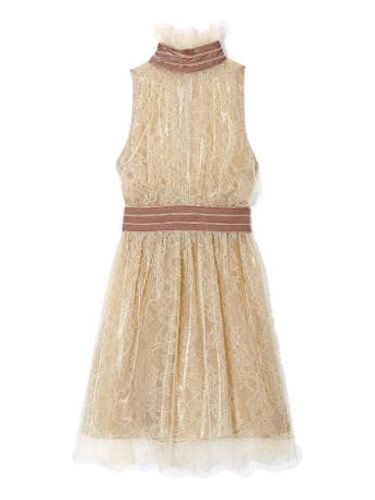 cream colored lace dress