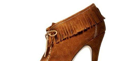 high heeled suede brown booties