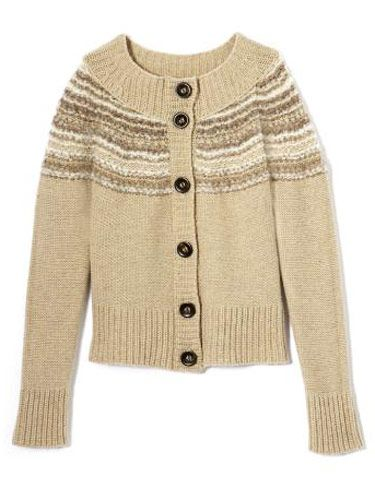 cream colored cardigan