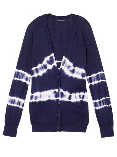 navy blue tie dyed cardigan