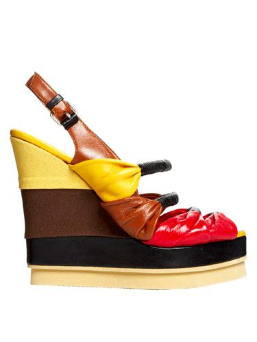 multi colored platform shoe