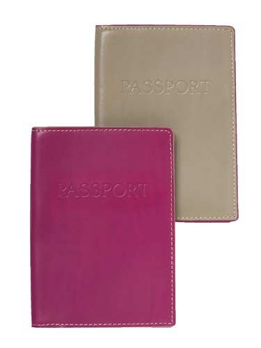 brown and pink passport covers