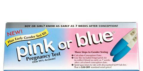 gender pregnancy test pink or blue