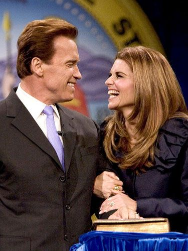 goverener arnold schwarzenegger and journalist maria shriver