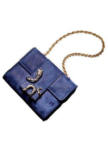 blue cavalli bag