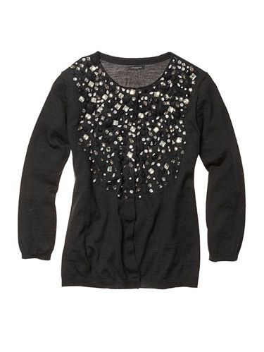 sparkly black top from ann taylor
