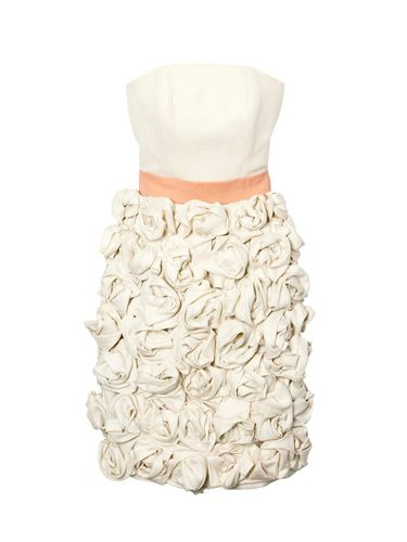 cream ruffled dress