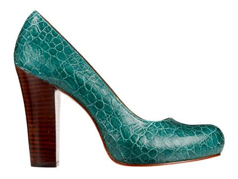 aqua blue croc skin pumps by dkny