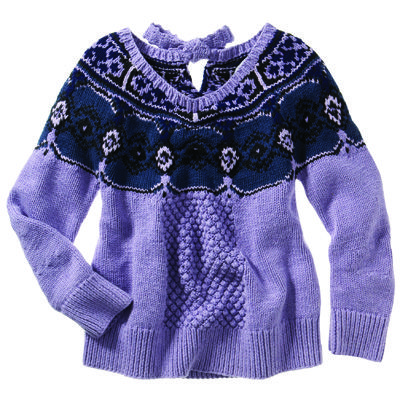purple winter sweater