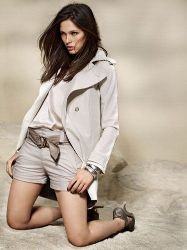 neutral color gucci  jacket and shorts