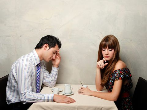 man and woman not talking
