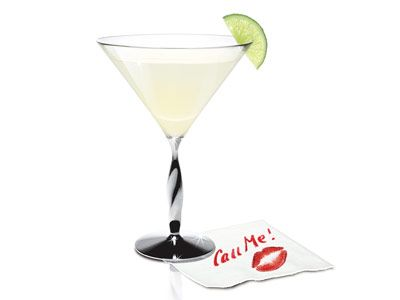 martini with napkin note