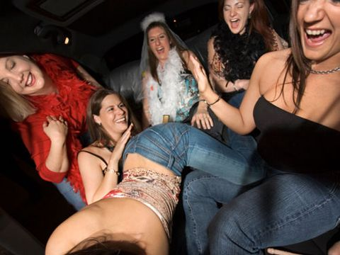 women partying at a bachelorette