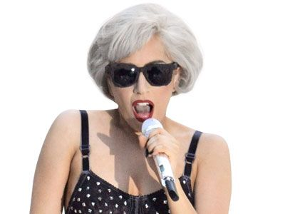 lady gaga with gray hair