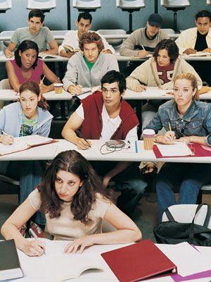 Orgasm in classroom