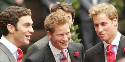 william van cutsem with prince harry and prince william