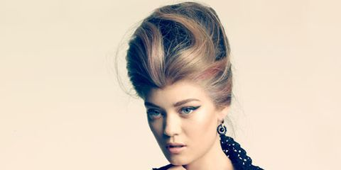 bouffant with highlights