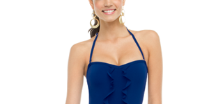 spanx high style bandeau swimsuit