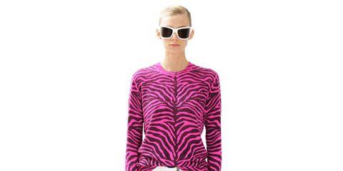 model in hot pink