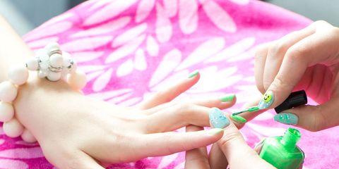 James Franco Alien Nails Spring Breakers Inspired Nail Polish