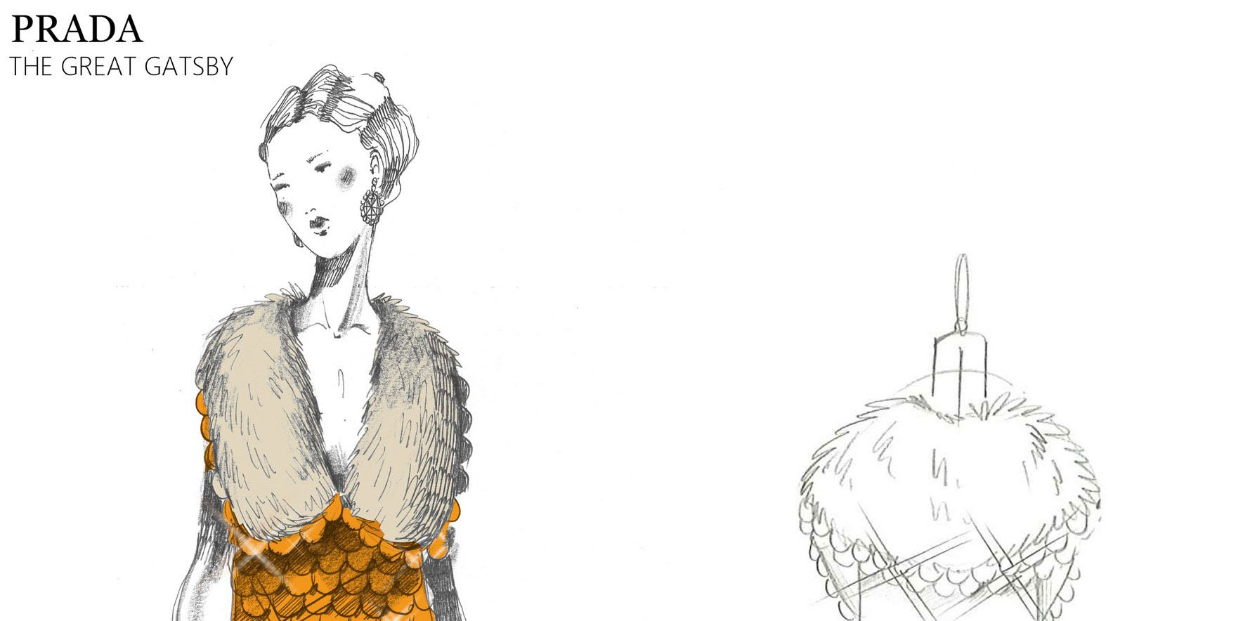 Miuccia Prada's Stunning Sketches for The Great Gatsby