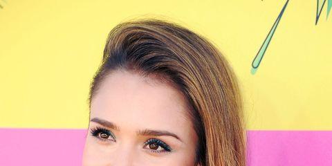 Nose, Lip, Hairstyle, Eyebrow, Eyelash, Pink, Facial expression, Style, Beauty, Magenta,