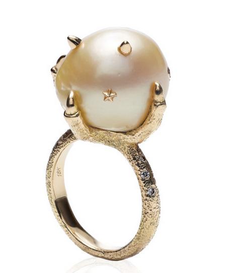 Bibi van der Velden Pearl Claw Ring