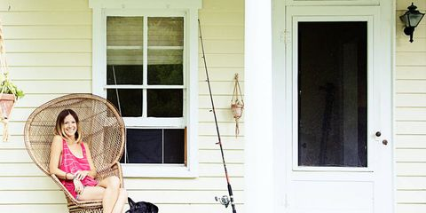 Wood, House, Mammal, Home door, Door, Fixture, Home, Luggage and bags, Cameras & optics, Siding,