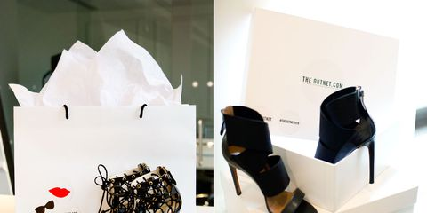 Product, High heels, Sandal, Paper bag, Facial tissue holder, Facial tissue, Material property, Basic pump, Shopping bag, Still life photography,