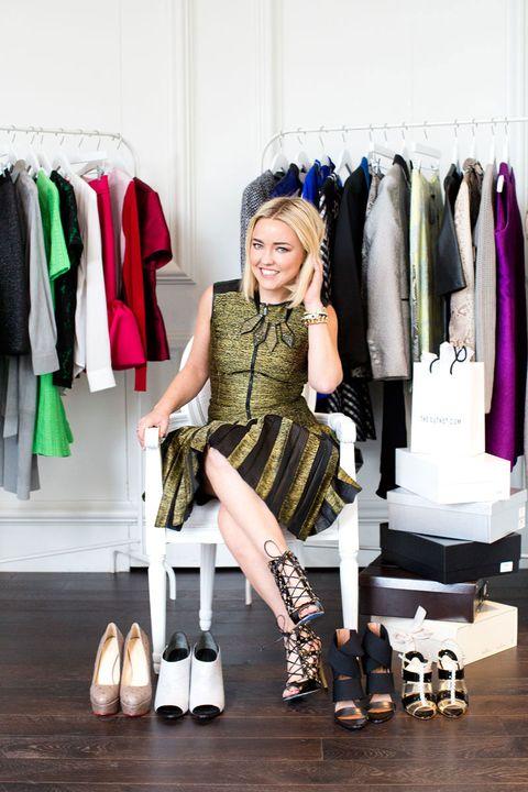 Textile, Style, Dress, Clothes hanger, Fashion accessory, Fashion, Retail, Knee, Boutique, Street fashion,
