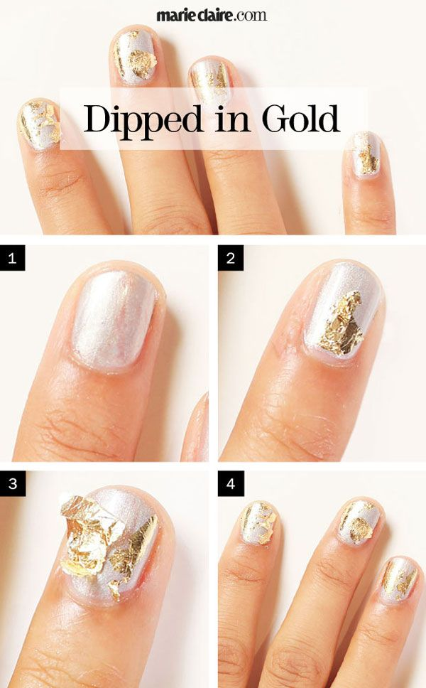 Dipped gold nail polish designs prinsesfo Images