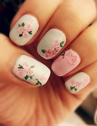 30 best spring floral nail art ideas flower nail art manicures prinsesfo Image collections