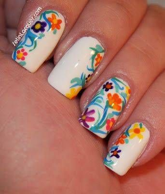 30 Best Spring Floral Nail Art Ideas Flower Nail Art Manicures