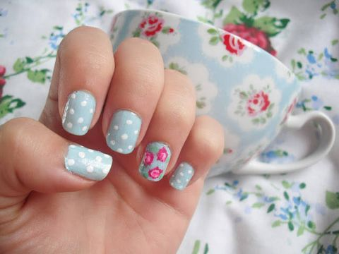 30 best spring floral nail art ideas flower nail art manicures fashion diva design floral nails mightylinksfo