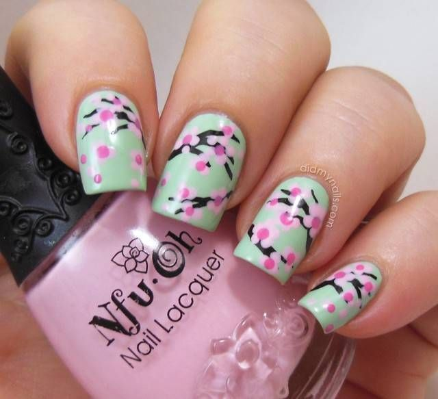 30 best spring floral nail art ideas flower nail art manicures prinsesfo Images