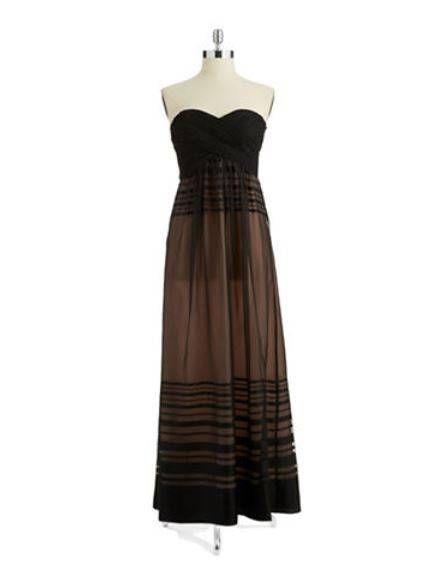Clothing, Brown, Sleeve, Dress, Textile, One-piece garment, Pattern, Fashion, Day dress, Black,