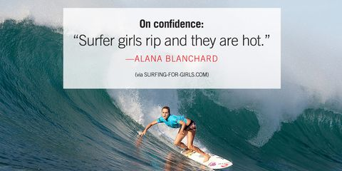 alana blanchard woman surfer quote