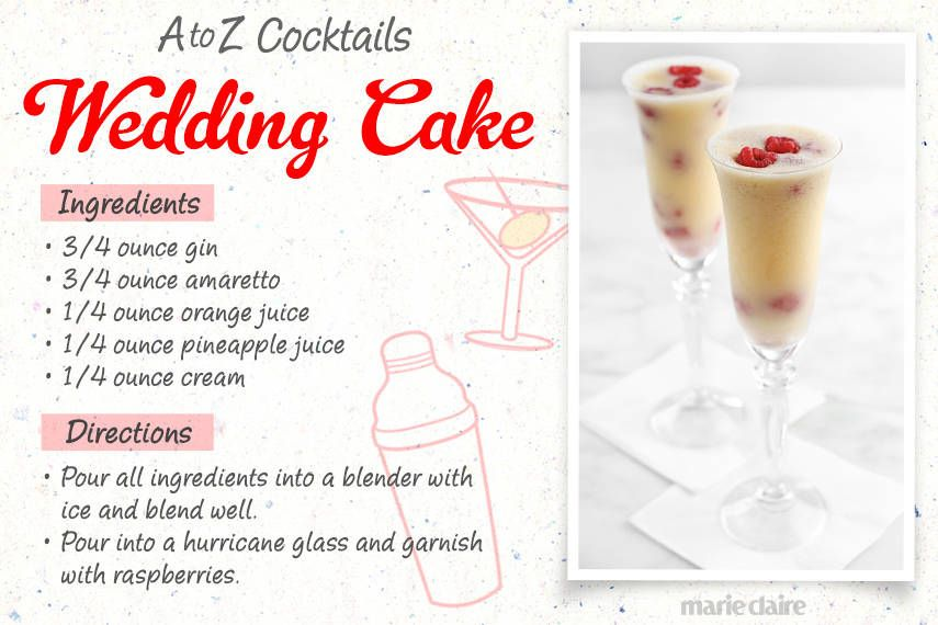 wedding cake mixed drink recipe easy to make cocktail recipes 26 easy cocktail drinks 23258
