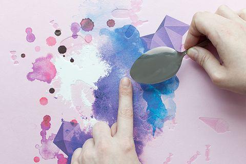 Finger, Pink, Paint, Purple, Nail, Magenta, Colorfulness, Watercolor paint, Violet, Thumb,