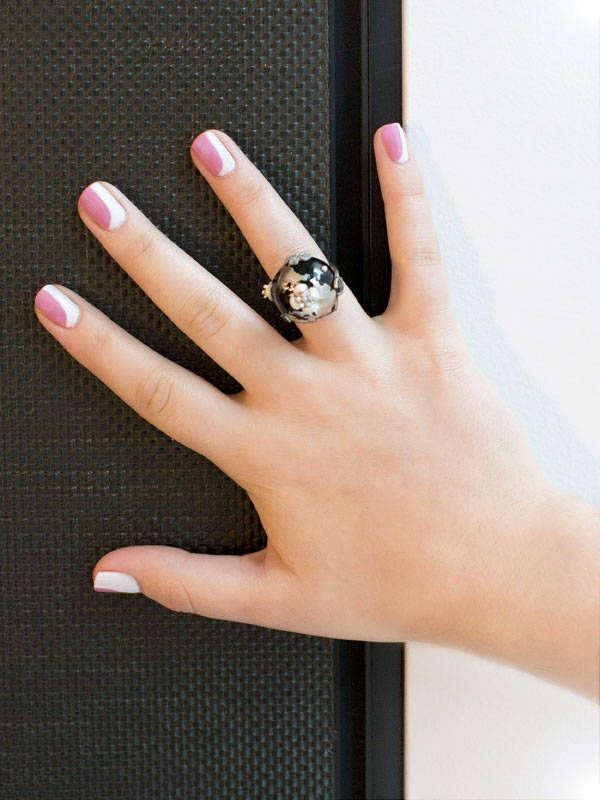 Chanel nail art howto the new french manicure prinsesfo Image collections