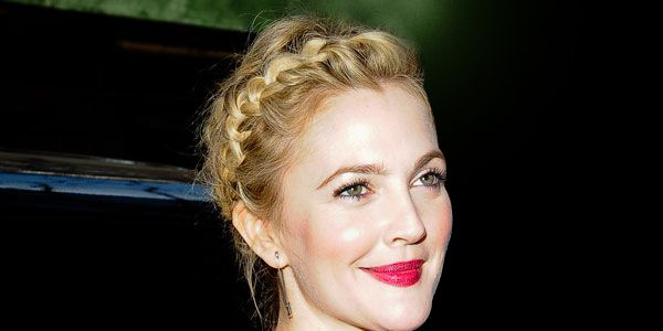How I Got Drew Barrymore's Messy Crown Braid, in GIFs