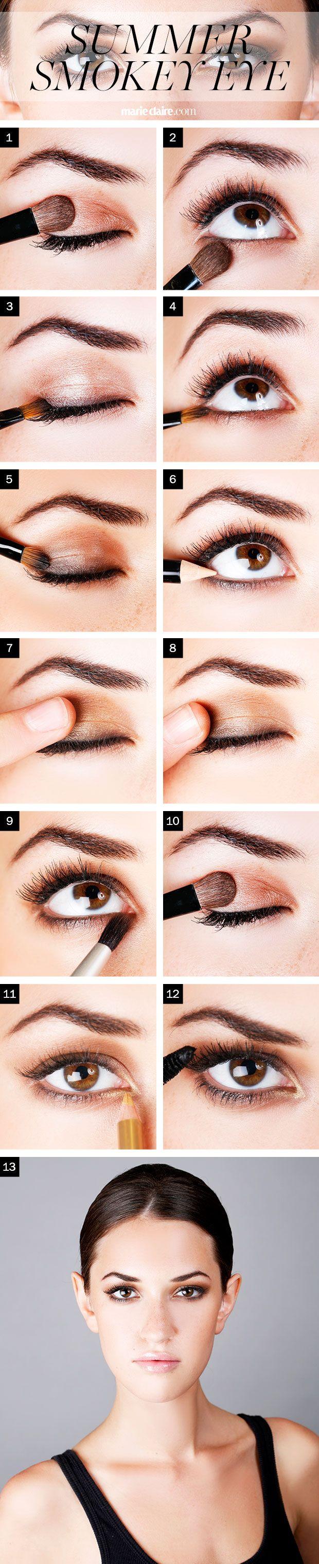 How To Get A Bronze Summer Smoky Eye Step By Step Metallic Smoky Eye