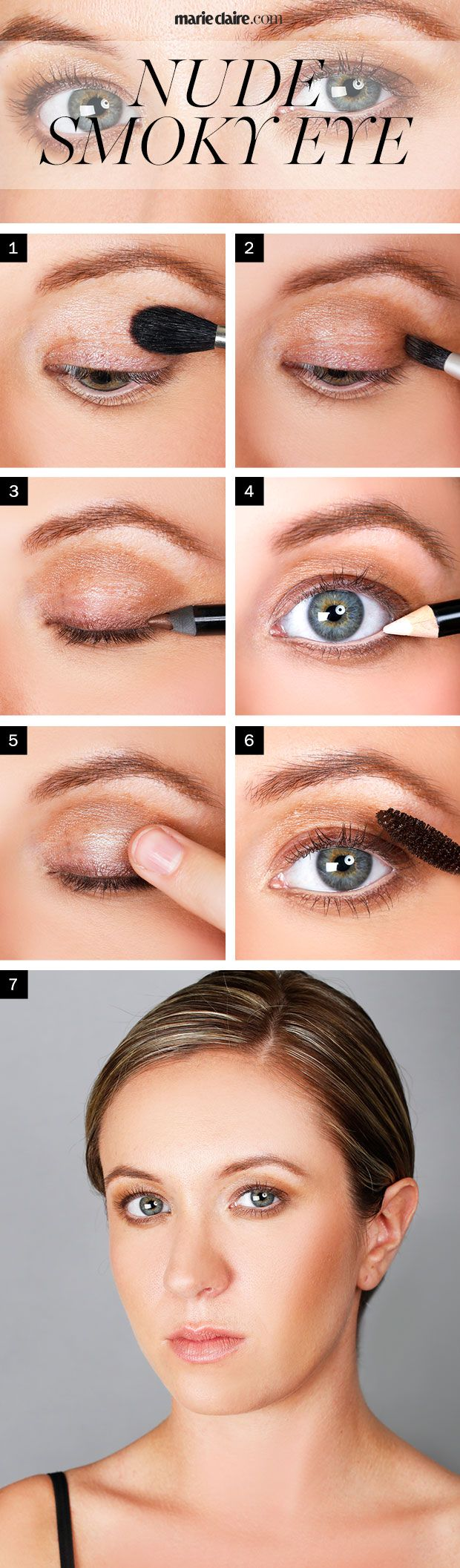 Extrêmement How To Get a Nude Summer Smoky Eye - Step By Step Natural Smoky Eye AE41